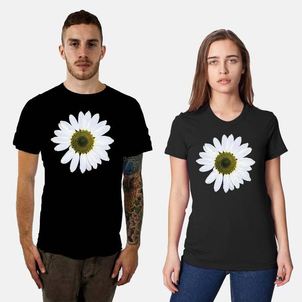 Black Daisy Wheel T-Shirts, exclusively at DustStore.com
